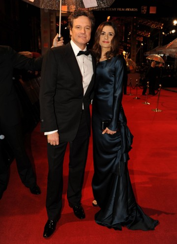 Star of The King's Speech, Colin Firth won the Leading Actor BAFTA last year for his performance in The Single Man. Livia is wearing Nina Scardia. (Pic: BAFTA/Richard Kendal)