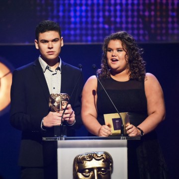 Josh and Amy Tapper present the BAFTA for Learning - Secondary at the British Academy Children's Awards in 2015