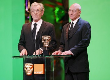 The two Sirs took a break from their West End production of Waiting for Godot to present the Director award (BAFTA / Marc Hoberman).