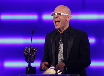 The children's author and presenter The Gadget Show presents the coveted Best Game award. (Pic: BAFTA/Brian Ritchie)