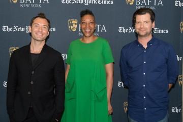Jude Law, BAFTA New York CEO Julie La'Bassiere, BAFTA New York Chairman Luke Parker Bowles
