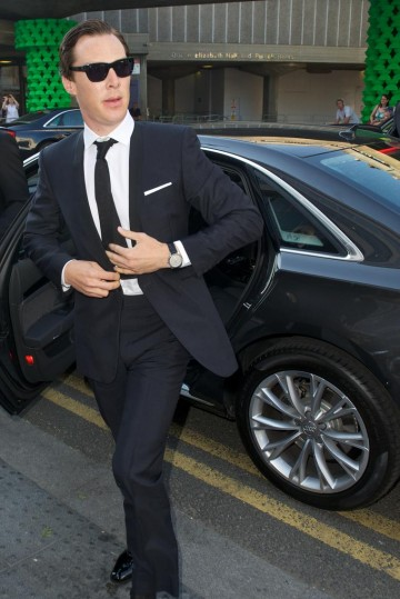Benedict Cumberbatch arrives at the BAFTA Television Awards in 2012