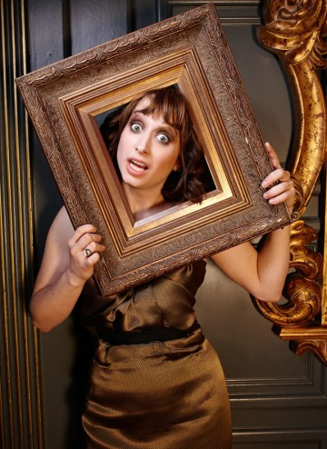 Isy Suttie poses for the Television Awards comedy photoshoot in 2010.