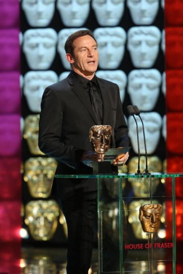 Jason Isaacs presents the award for Mini Series