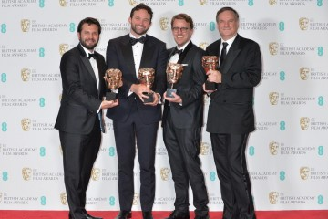 Winner of the Special Visual Effects Award, The Jungle Book. From L-R: Adam Valdez, Dan Lemmon, Andrew R. Jones and Robert Legato.