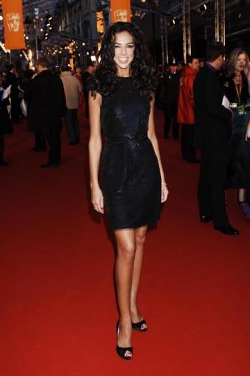 Terri Seymour, wore a Jasmine di Milo dress and shoes by Louboutin (pic: BAFTA / Richard Kendal).