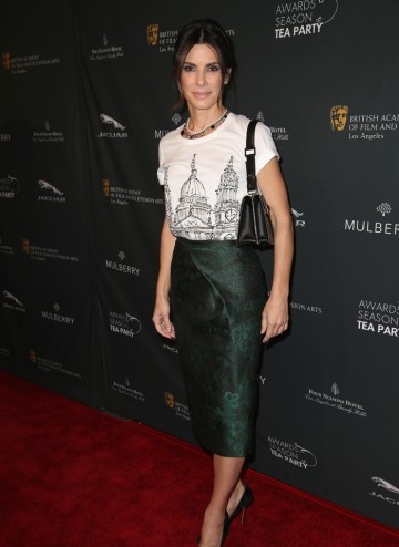 Sandra Bullock arriving at the BAFTA LA 2014 Awards Season Tea Party.