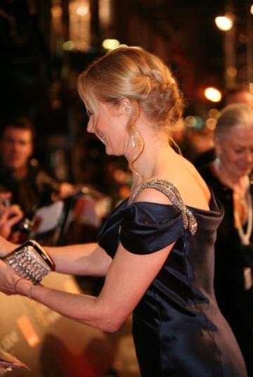 Nip/Tuck star Joely Richardson signs autographs for fans (BAFTA/Dave Dettman).