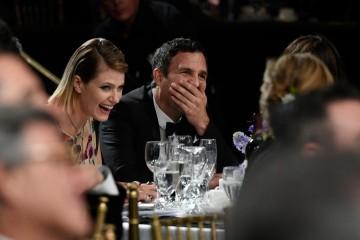 Actress Sunrise Coigney (L) and honoree Mark Ruffalo