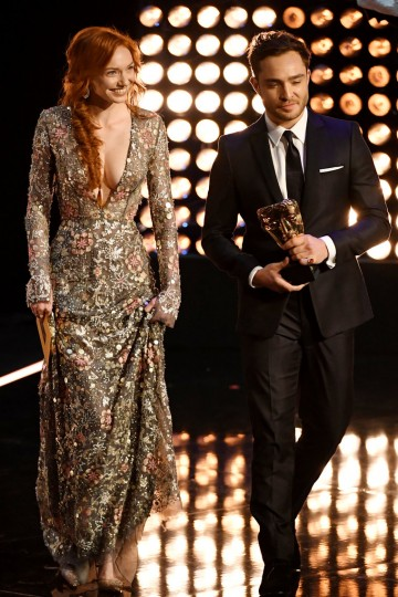 Eleanor Tomlinson & Ed Westwick present the award for Mini Series
