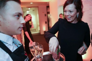 Olivia Colman at the BAFTA Film Gala champagne reception