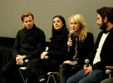 Ewan McGregor, Producer Belén Atienza, Naomi Watts and Writer Sergio Sanchez