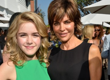 Actress Kiernan Shipka (known for playing Don and Betty Draper's daughter Sally in Mad Men) with television host and actress Lisa Rinna