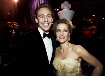 Tom Hiddleston and Gillian Anderson at the 2012 Film Awards