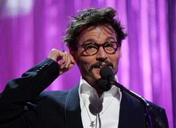 Award presenter Johnny Depp.