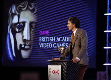 TV and radio personality George Lamb takes to the stage to present the winner for Use of Audio (BAFTA/Brian Ritchie)