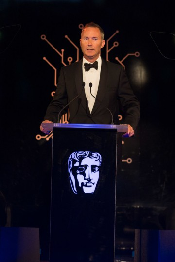 BAFTA's VP for Games David Gardiner makes his opening speech
