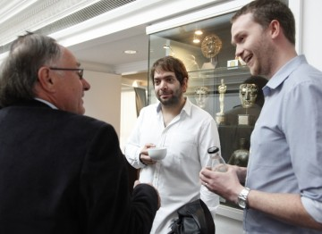 Breakthrough Brits Rowan Athale and Ed Barratt talk with BAFTA Chairman John Willis