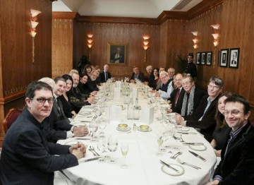 The guests at the Fellow's Lunch in 2013.