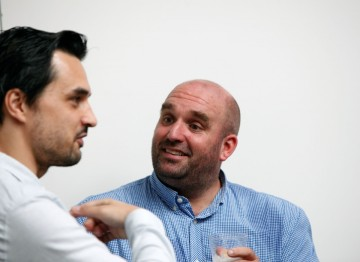 Director Shane Meadows chats to game developer Georg Backer
