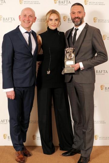 Colin McLaren, Joanna Vanderham and Brian Coffey