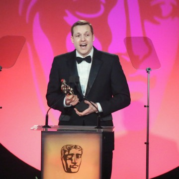 Marc Williamson accepts the award for Breakthrough Talent sponsored by Sara Putt Associates at the British Academy Television Craft Awards in 2015