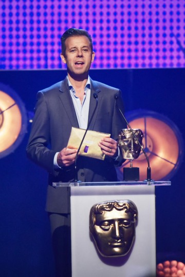 Pat Sharp presents the BAFTA for Channel of the Year at the British Academy Children's Awards in 2015