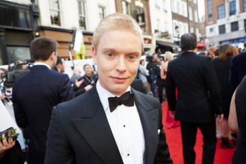 Cucumber star Freddie Fox looking dapper on the red carpet outside London's Theatre Royal