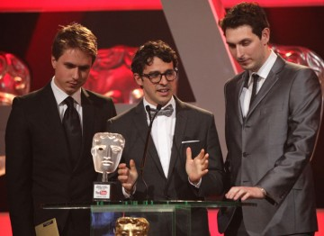Blake Harrison, Joe Thomas and Simon Bird - otherwise known as The Inbetweeners - present this year's only publicly-voted award, after winning it themselves last year.