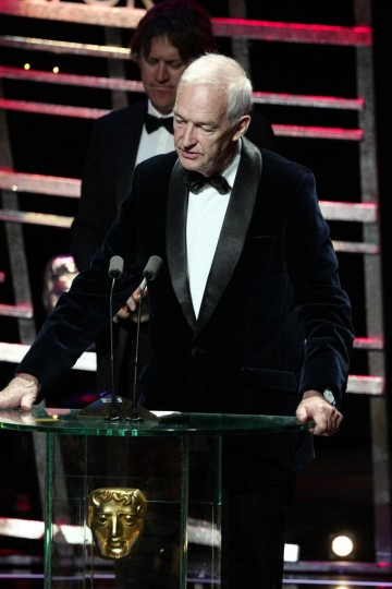Jon Snow accepts the award for News Coverage