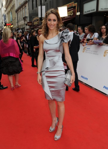 Olympic gold medal winner Amy Williams joins the red carpet for the British Academy Television Awards (BAFTA/Richard Kendal).