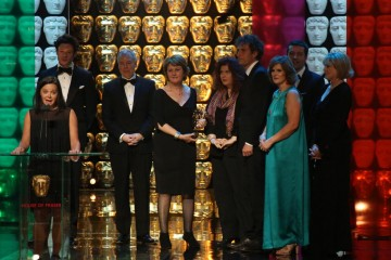Happy Valley Production Team accept the award for Drama Series