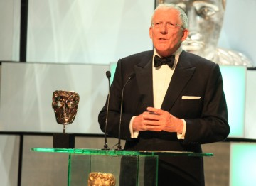 The Apprentice's Nick Hewer presents the Factual Series award.