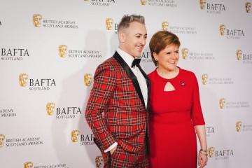 Alan Cumming OBE & First Minister of Scotland Nicola Sturgeon