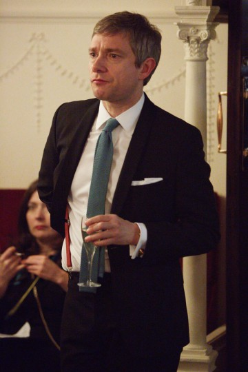 Martin Freeman in the J. Kings Smoking Room before presenting the BAFTA for Cinematography.