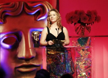 'Boy A' star Katie Lyons presents the Award for Interactive Creative Contribution (pic: BAFTA / Richard Kendal).