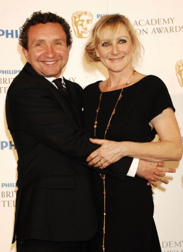 Lesley Sharp and Eddie Marson presented the Factual Series category to... (BAFTA/Richard Kendal).