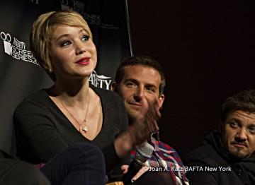 Jennifer Lawrence, Bradley Cooper and Jeremy Renner