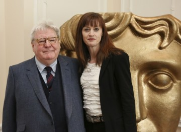 BAFTA CEO Amanda Berry with Alan Parker.