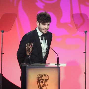 Iwan Rheon presents the award for Digital Creativity sponsored by Technicolor at the British Academy Television Craft Awards in 2015
