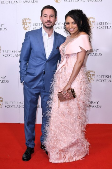 Martin Compston and Tianna Chanel Flynn