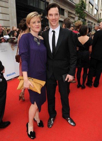 Supporting Actor nominee for Small Island, Benedict Cumberbatch arrives at the London Palladium with guest (BAFTA/Richard Kendal).