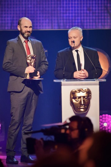 Ooglies collects the BAFTA for Pre-School Animation at the British Academy Children's Awards in 2015
