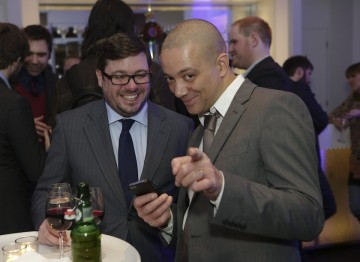 Team members of Football Manager 2014 at the BAFTA Games Nominees Party.