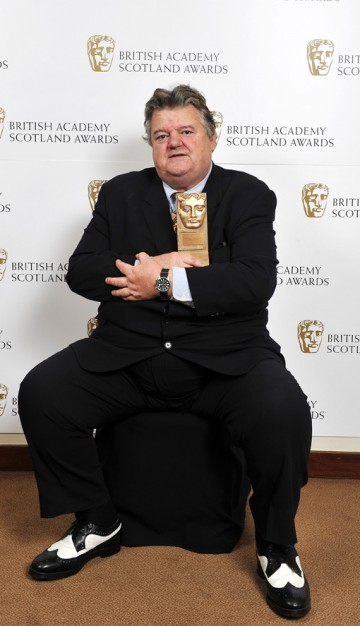 Robbie Coltrane recipient of the Outstanding Contribution to Film Award