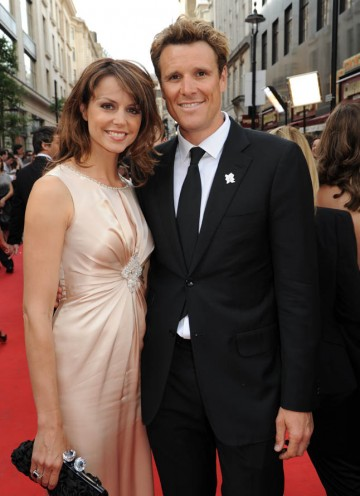 Double Olympic Gold Medal winner and BAFTA Features presenter James Cracknell arrives on the red carpet (BAFTA/Richard Kendal).