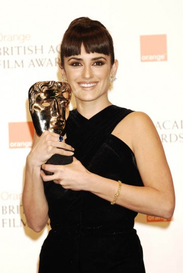 The Best Supporting Actress award went to Penelope Cruz, for her performance in Vicky Christina Barcelona (BAFTA/ Richard Kendal).