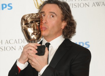 Steve Coogan won the BAFTA for Male Performance in a Comedy Programme for Michael Winterbottom's The Trip, co-starring Rob Brydon. (Pic: BAFTA/Richard Kendal)