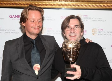 Presenter Joris De Man, with composer Normand Corbeil who won for his expressive, impressive score that integrated beautifully with the sound design. (Pic: BAFTA/Steve Butler)