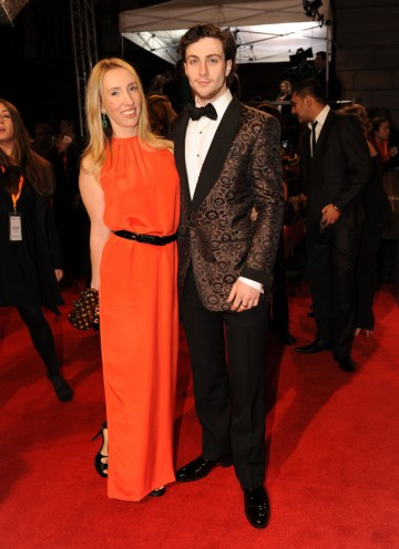 Taylor Wood directed Johnson in John Lennon biopic Nowhere Boy. Johnson has since appeared in Kick-Ass and is an Orange Wednesdays Rising Star nominee. Taylor Wood's dress is by Celine; make-up by Lancome and a Bottega Veneta bag. (Pic: BAFTA/Richard Kend